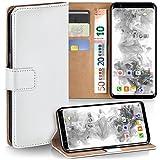 moex Samsung Galaxy S8 | Hülle Weiß mit Karten-Fach 360° Book Klapp-Hülle Handytasche Kunst-Leder Handyhülle für Samsung Galaxy S8 Case Flip Cover Schutzhülle Tasche