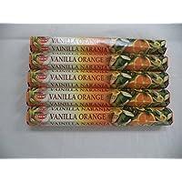 Hem Vanilla Räucherstäbchen Orange 100(5x Stick 20Packungen) preisvergleich bei billige-tabletten.eu