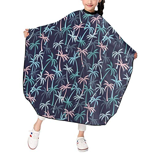 Friseursalon Haarschneideumhang dhdhgdfj Cute Tropical Plants Coconut Trees Pattern Kids Child Barber Hair Cutting Cape for Hair Salon Salon Shampoo -