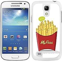 """Funda carcasa para Samsung Galaxy S4 Mini diseño ilustración """"My fries"""" patatas fritas borde blanco"""