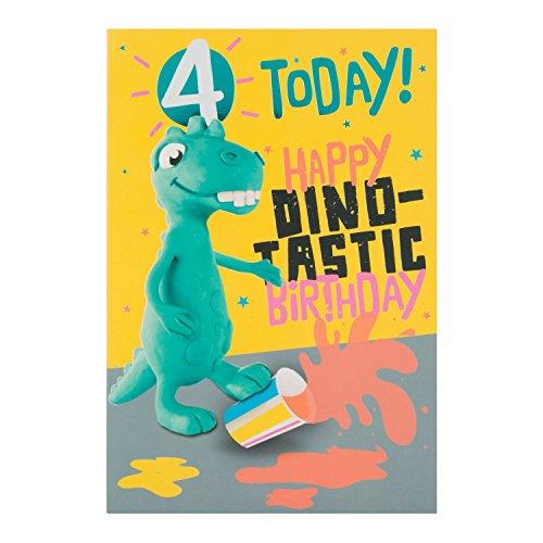 """Hallmark 4. Geburtstag Karte""""Dino Tastic–Medium"""