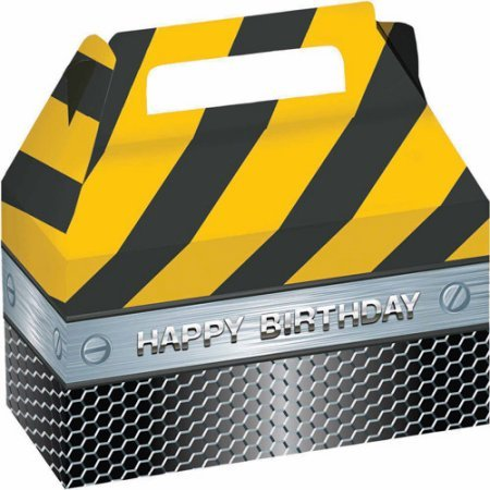 Preisvergleich Produktbild Construction Birthday Zone Treat Boxes
