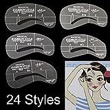 LIFECART 24 Stile Augenbrauen Schablone Kit Template Shaper Augenbrauen Tools Werkzeug Gestaltung Pflege