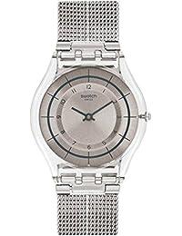 Swatch Reloj Digital para Mujer de Cuarzo con Correa en Acero Inoxidable SFE109M