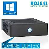 Xercon Mini ITX * LÜFTERLOS * PC System Intel J3455 4x 2.30GHz, Quadcore | 8GB DDR3-1600 | 240GB ultraschnelle SSD Disk | Intel HD Graphics 400 | HDMI Ausgang | Netzteil, extern | 5.1 Soundchip | Windows 10 Professional [98709_W10]