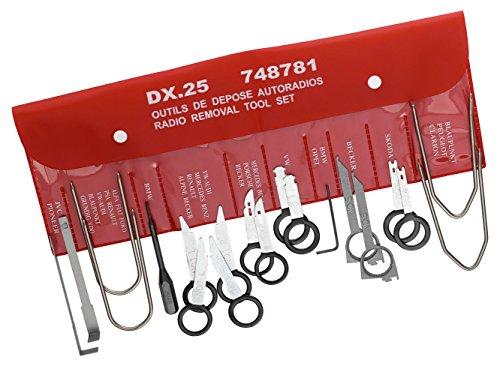 FACOM 20-teiliger Satz Spezialwerkzeuge für Den Ausbau von Autoradios, 1 Stück , DX.25
