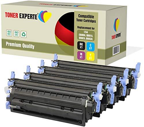 4er Set TONER EXPERTE® Premium Toner kompatibel zu HP 124A Q6000A Q6001A Q6002A Q6003A für HP Color Laserjet 1600 1600n 2600 2600n 2600dn 2605 2605d 2605dn 2605dtn CM1015 CM1017 MFP -