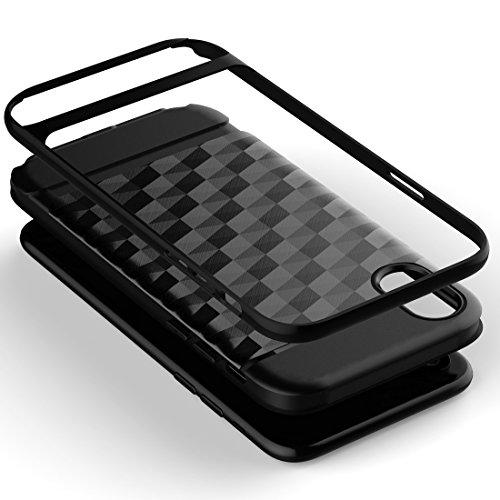Wkae 3D Diamond PC + TPU Kombination Schutzhülle für iPhone X ( Color : Black ) White