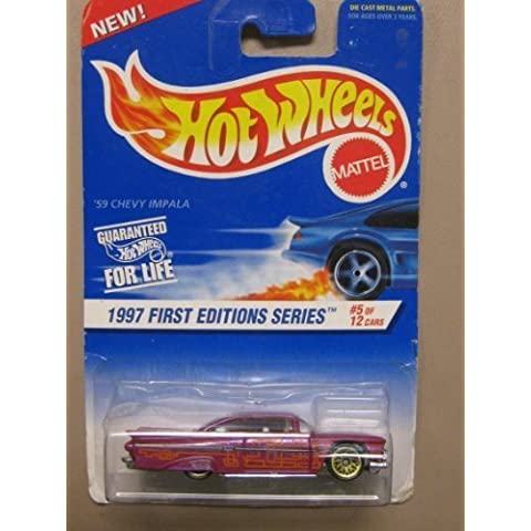 Hotwheels '59 Chevy Impala-1997 1st Editions #5-12 Collector #517 by Mattel