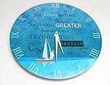 Orologio da parete Nautico – 'Le forze dentro di te sono molto più grandi di qualsiasi forza cerchi di contenerti' (28 cm)