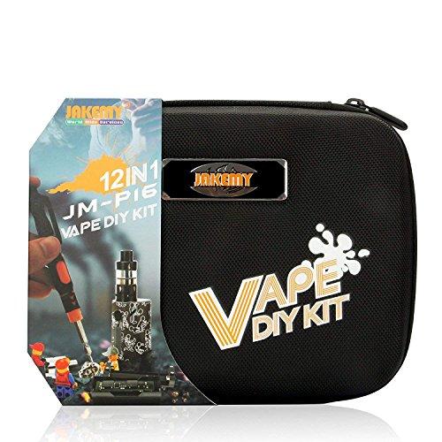 Becemuru Vape 12 in 1 Elektronische Zigaretten DIY Werkzeug Kit Professionelle Präzisions-Schraubendreher Reparatur Werkzeug Kit für Smoking Set mit Canvas Tasche