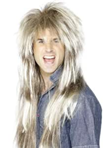 ADULT MENS BLONDE 80S THROWBACK WIG 1980'S SMIFFYS FANCY DRESS COSTUME