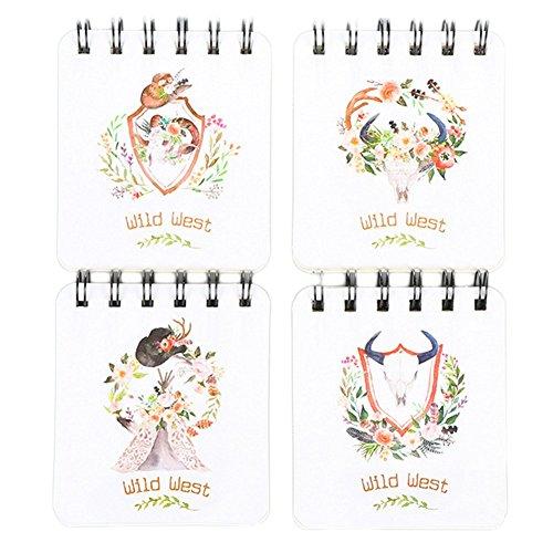 Student Universal Pocket Top Spiralbindung Notizblock ruikey Cute Cartoon Cover Hardcover, liniert, Spiralbindung Notebook mit säurefreiem Papier Note Maker 9100017von DIY 8.3* 9,4cm 9.4X8.3CM 04# (Säurefreiem Notebook Papier)