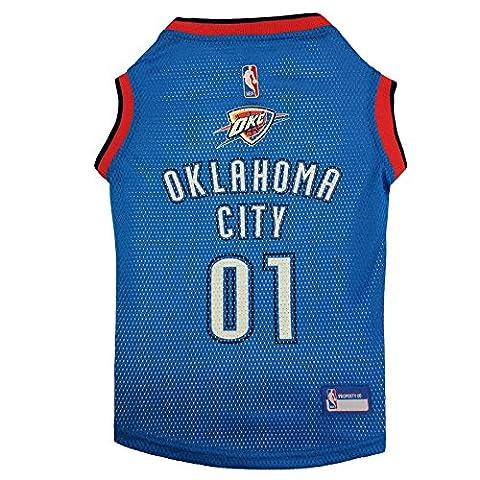 Pets Première Oklahoma City Thunder NBA Maillot de Basketball pour chien, XS