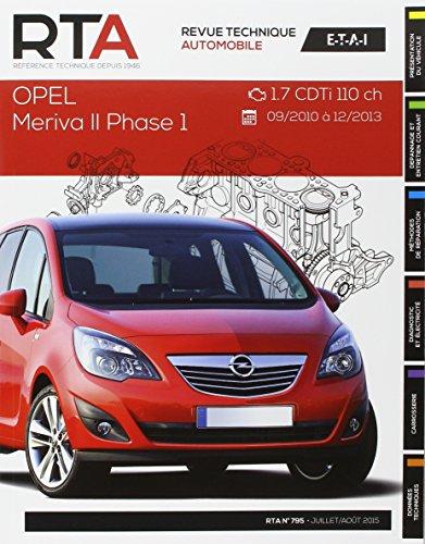 Revue Technique B795 Opel MérivaII 1.7 CDTi 110ch(9/10 à12/13)