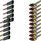 Mintice™ 5 X 4-Polig Kabel Steckverbinder Stecker Wasserdicht Schnellverbinder Draht Elektrisch Ausrüstung KFZ LKW