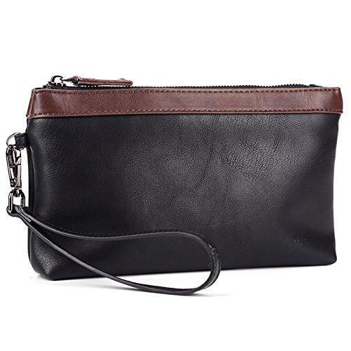 Mefly Business Mann Handtasche Mode Tasche Handy Tasche Lange Große Kapazität Black