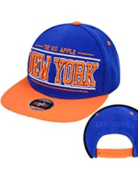 Hoodboyz The Big Apple New York Snapback Cap Blau Orange