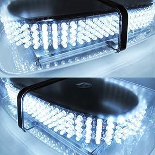 Aurnoc LED Amber helles 240-LED Stroboskop Blitzlicht für das Auto LKW Konstruktion Warnaufsteller Notfall Blitzmodi 7 Sicherheit weiß