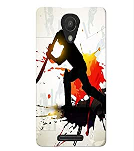 Fuson Cricket Playing Boy Back Case Cover for XIAOMI REDMI 3S - D3871