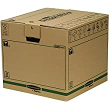 Bankers Box SmoothMove Fastfold Removal Box - Large, Pack of 5-Brown
