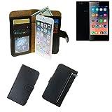 K-S-Trade® Für Siswoo A5 Schutz Hülle Portemonnaie Case Phone Cover Slim Klapphülle Handytasche Schutzhülle Handyhülle Schwarz Aus Kunstleder (1 STK)