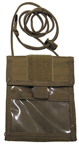 Brustbeutel mit Umhängekordel und diversen Taschen, aufklappbar, Farbe: sand Coyote Tan -