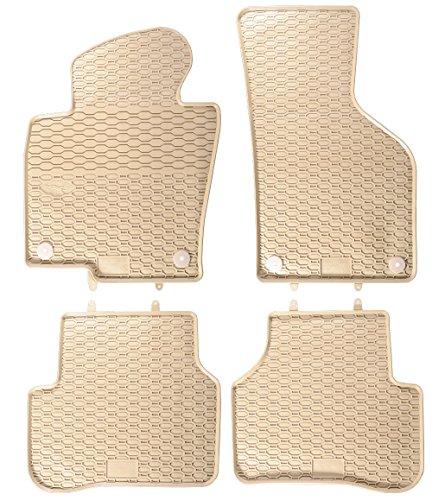 2010-fußmatten Passat Vw (AME - Auto-Gummimatten in beige und Wabendesign, Geruch-vermindert und passgenau mit verbauten Befestigungen 807/4B)