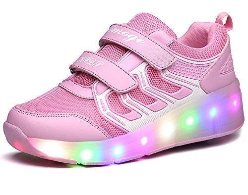 Unisex led scarpe con rotelle automatiche skate formatori sportive ginnastica lampeggiante sneaker per bambini ragazze e ragazzi