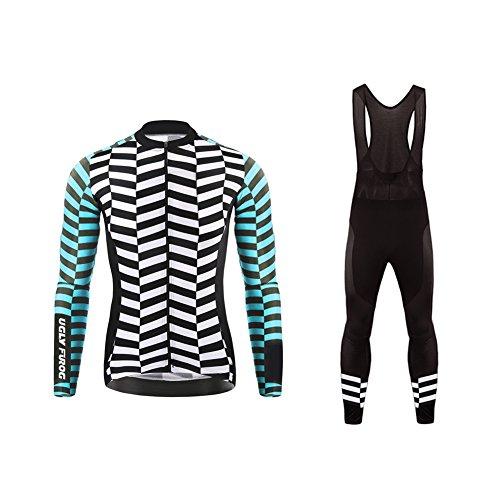 Uglyfrog #21 2018 uomo ciclismo magliette maglia da ciclismo a maniche lunghe moda colorata primavera del manicotto lungo jersey+lunga pantaloni da ciclismo set primavera style