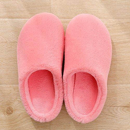 Aemember inverno pantofole, Ladies Home, Home amanti, Cotone pantofole, pavimento morbido pantofole, uomo invernale Rose red