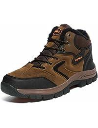 Hommes Chaussures D'escalade L'automne Hiver Nouveau Doublure En Molleton Chaud Unisexe De Plein Air Hausse Élevée Chaussures De Marche Taille 36-48