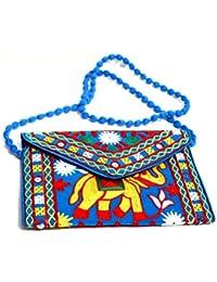 Rajasthani Handicraft Embroidered Clutch Sling Bag Clutch Bag - B07F1RNXLF