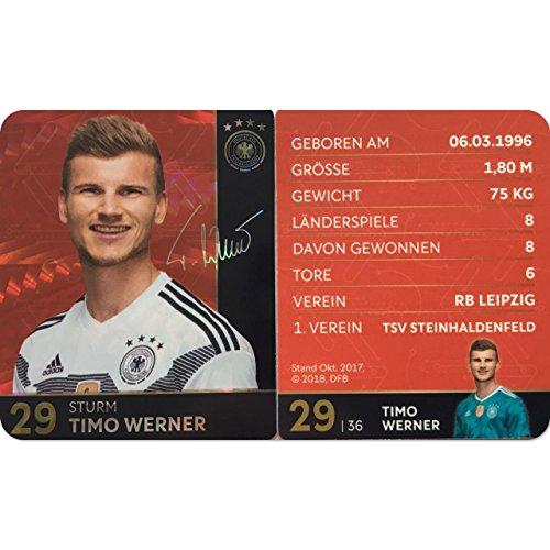Rewe 2018 WM DFB Russland - Glitzer Einzelkarten Sammelkarten Komplettset (GLITZER KARTE NUMMER 29 - TIMO WERNER)