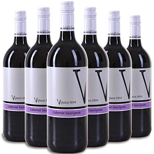 Vipava 1894 Rotwein Cabernet Sauvignon 2015, von Hand gelesener roter Wein (6 x 0,75 l)