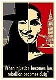 Instabuy Poster V wie Vendetta (V for Vendetta) Propaganda Quotes V - A3 (42x30 cm)