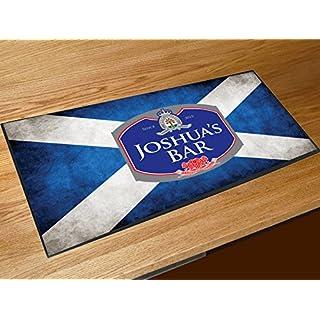 personalisiert Schottische Flagge Namen Bar Runner Zähler