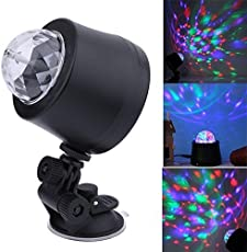 ZIGLY USB DJ Light LED Stage Effect Lighting Mini Disco Ball Sound active Party Lights For Car and Home