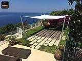 85512 - Tenda a Vela Parasole Ombreggiante da Giardino Resistente alla Pioggia per Feste - Quadrata 3m x 3m - Colore Panna marcata Globolandia SRL