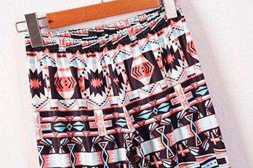 Ouneed® Femme Noel Motif Legging Rouge en Polyester J
