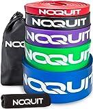 NOQUIT ® Premium Widerstandsband mit innovativen Neopren Grips für noch effektiveres Training - Klimmzughilfe mit gro�