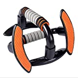 Goldyqin 1 Paar Push-Up-Riegel Push-Up-Riegel Schaumstoffgriff Übung Push-Up-Brust Arme Fitness Push-Up-Rack Riegelstütze Stahlrohrständer - Orange & Grau