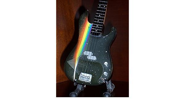 Mini Bass Guitar PINK FLOYD ROGER WATERS Display