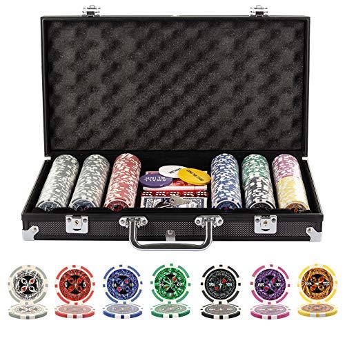 Playing Cards 1000 Piece Laser Poker Set Plastic Chips W 6 Dice 3 Card Decks Lockable Case Monalisa Tiles Com