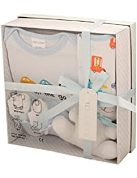 Newborn Baby 4 pcs Gift Set 0 - 3 Months. Available in Blue or Pink or Lemon or White