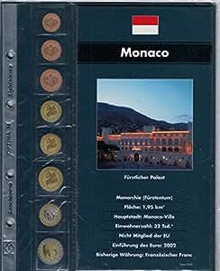 """Leuchtturm Feuille complémentaire """"Monaco"""" pour l'Album pour les jeux d'Euros OPTIMA"""