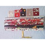 5X Assortiment de rouleaux de cadeau de Noël Motif et 5Assorti étiquettes Différentes longueurs
