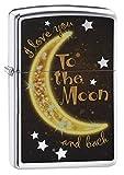 Zippo Golden Moon Regular Feuerzeug–Hochglanz Chrom