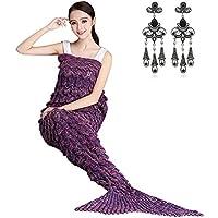MODETREND Sirena Coperta a Maglia Coda Knit