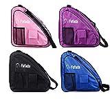Fafada Skatertasche Inliner Tasche Schlittschuhtasche Skate Bag Wasserabweisend Tasche für Skate Schlittschuh Rollschuhe bis zu 38 Gr. Pink